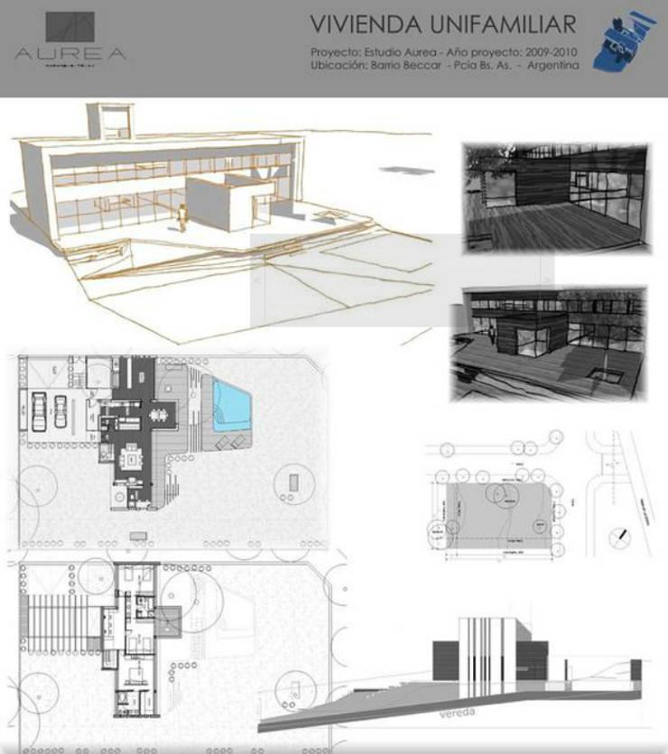 Casa de la Barranca: Casas de estilo  por AUREA Estudio de Diseño,Moderno
