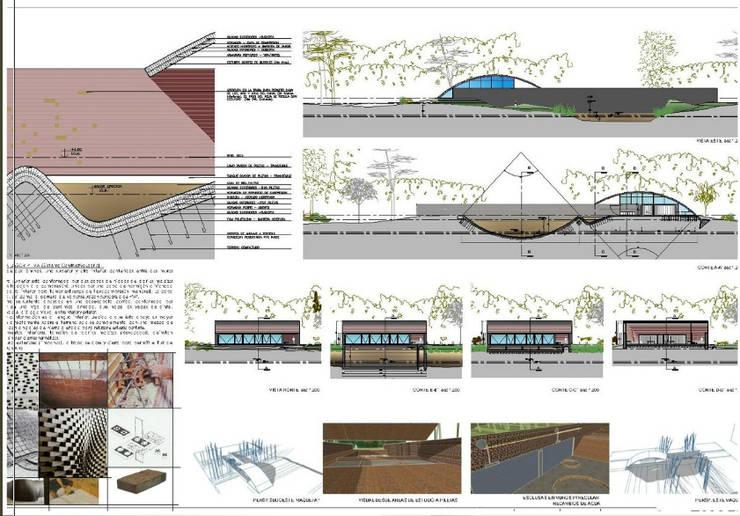 ECO-ISLA, AREA CIENTÍFICA: Casas de estilo  por AUREA Estudio de Diseño,