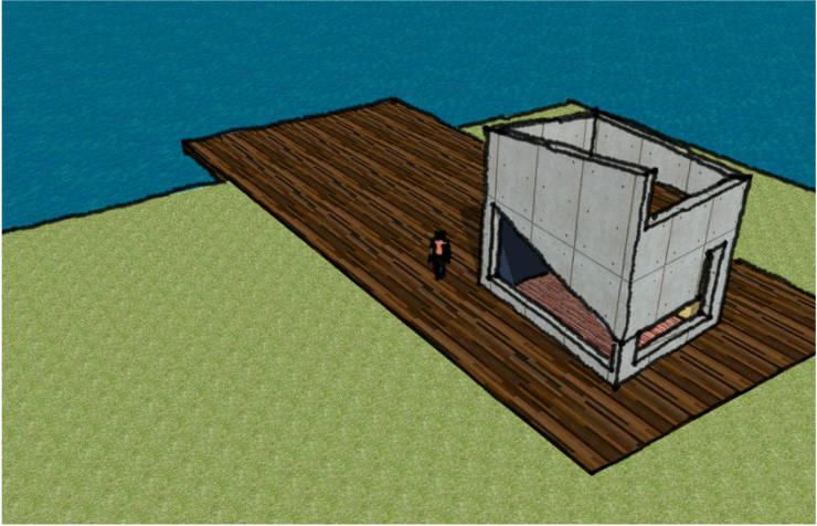REFUGIO DEL LAGO: Casas de estilo  por AUREA Estudio de Diseño,