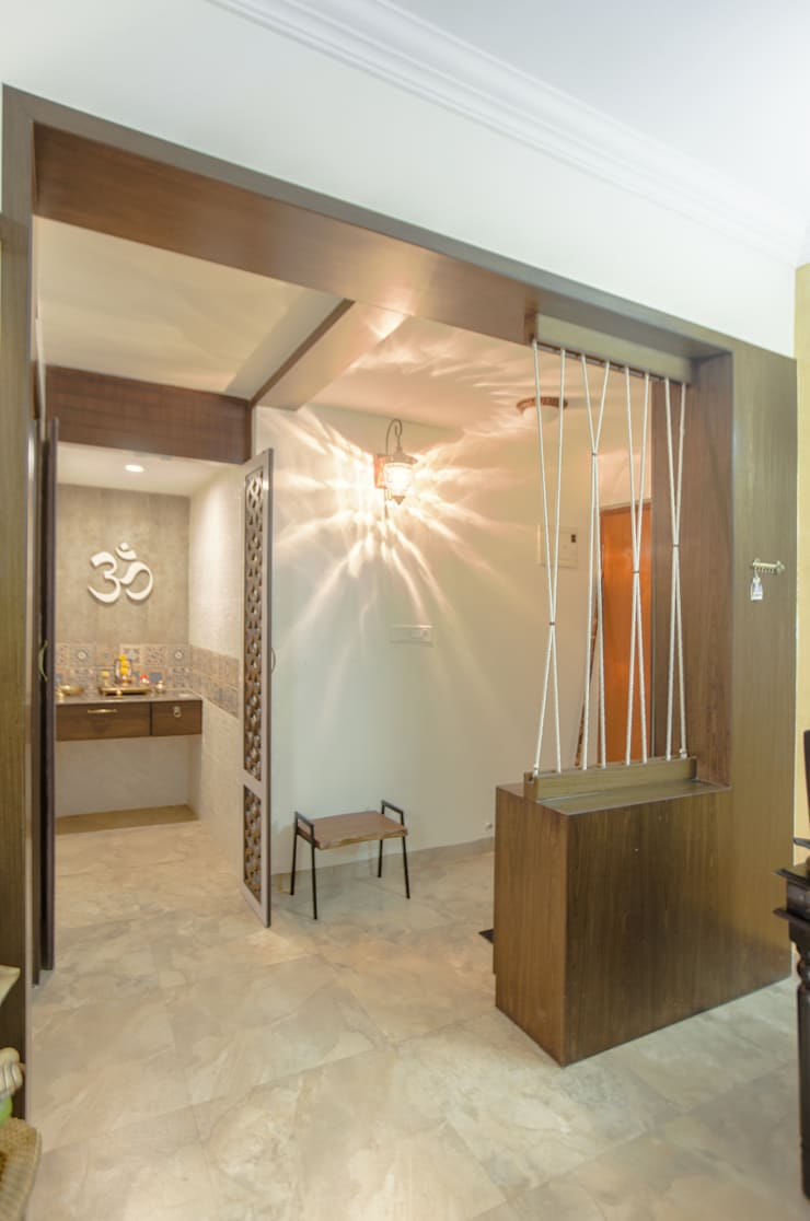 2 BHK in country Style Interiors :  Corridor & hallway by In Built Concepts,Country Plywood