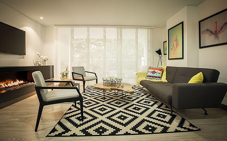 Salas / recibidores de estilo  por Maria Mentira Studio