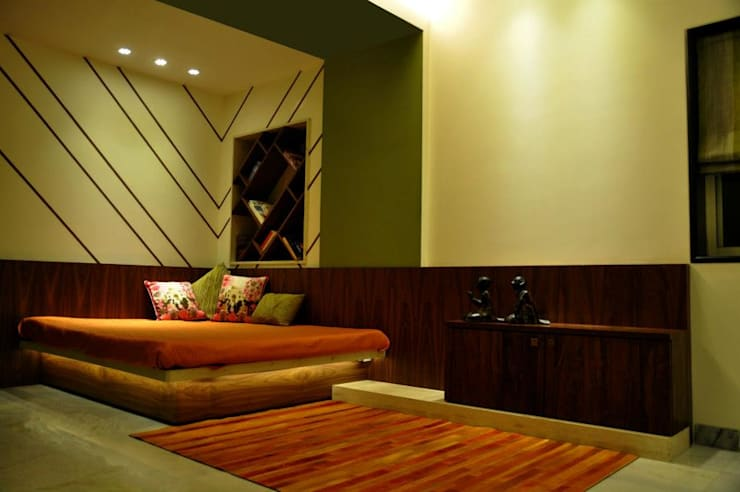 Mittal Residence, Colaba, Mumbai :  Bedroom by Inscape Designers ,Eclectic