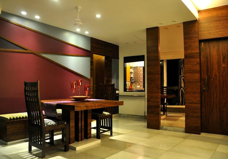 Mittal Residence, Colaba, Mumbai :  Dining room by Inscape Designers ,Eclectic