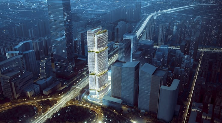 Gmond International Building, Shenzhen, China:   by Aedas