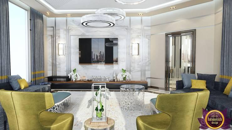 Contemporary interior of Katrina Antonovich:  Living room by Luxury Antonovich Design, Minimalist