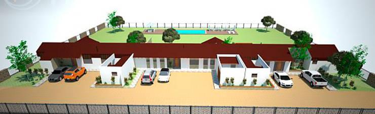 Vista general de conjunto: Casas de estilo  por DIMA Arquitectura y Construcción