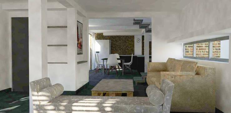 Living room by DIMA Arquitectura y Construcción,