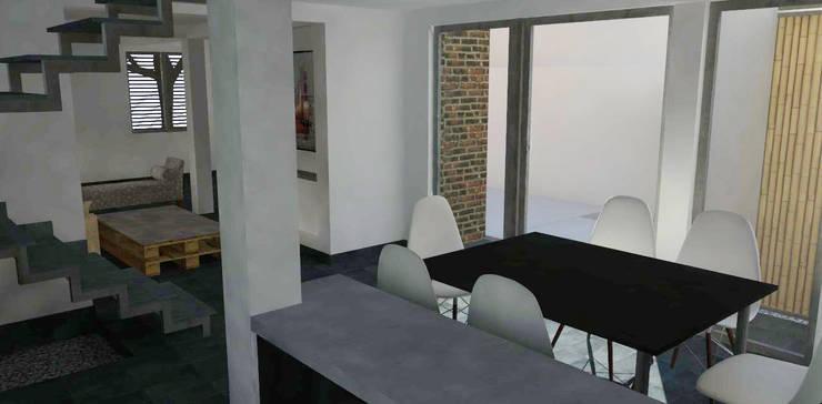 Kitchen by DIMA Arquitectura y Construcción,