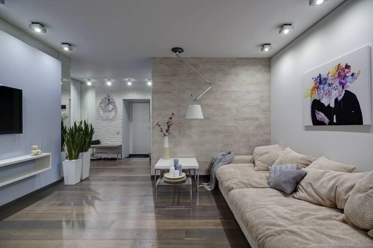 Apartments for stylish women: Гостиная в . Автор – Natali Vasilinka