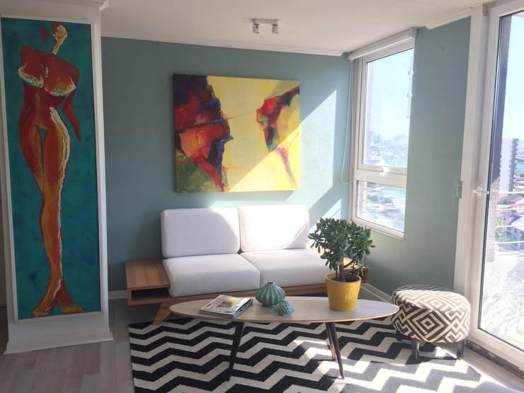 Espacios mas grandes : Livings de estilo  por Studio Barla