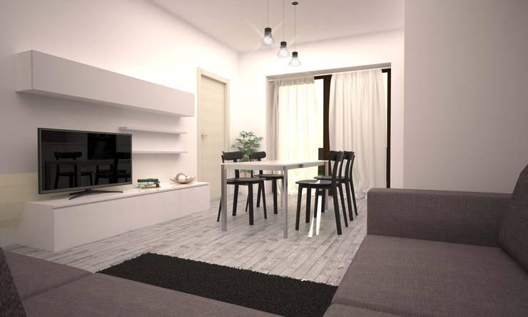 APPARTAMENTO GIORGIO: Soggiorno in stile  di LAB16 architettura&design,