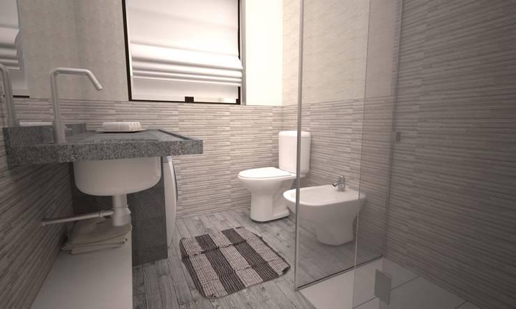 APPARTAMENTO GIORGIO: Bagno in stile  di LAB16 architettura&design,