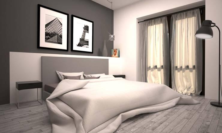 APPARTAMENTO GIORGIO: Camera da letto in stile  di LAB16 architettura&design,