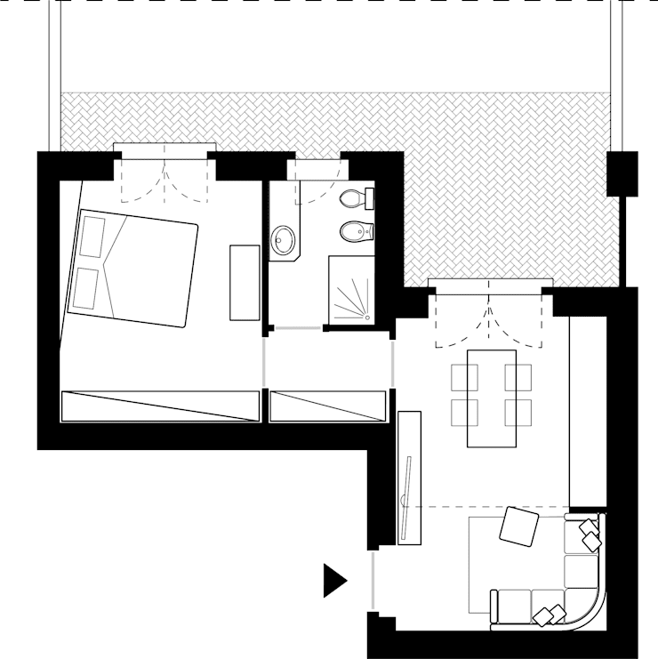 PLAN CON ARREDI:  in stile  di LAB16 architettura&design,