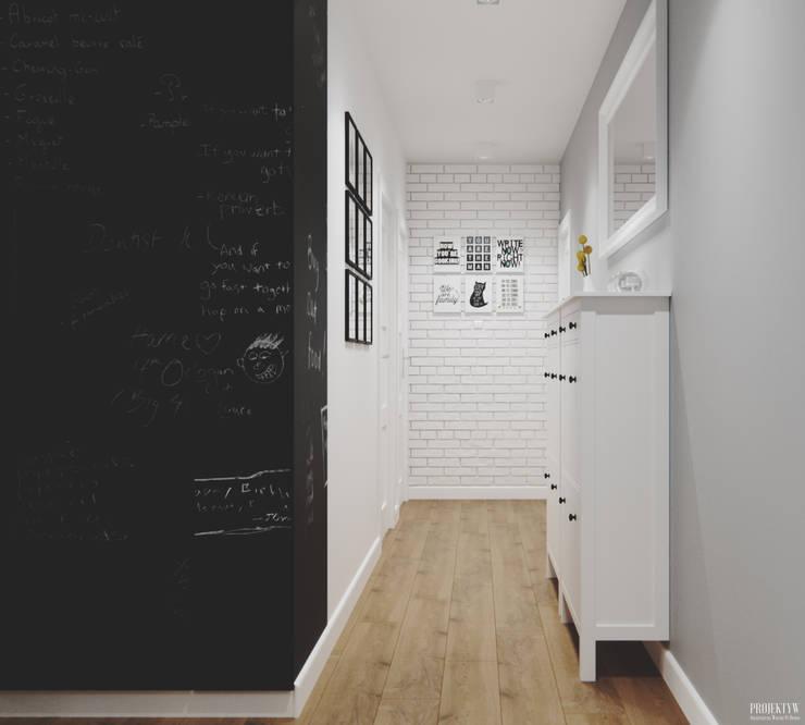 走廊 & 玄關 by PRØJEKTYW | Architektura Wnętrz & Design