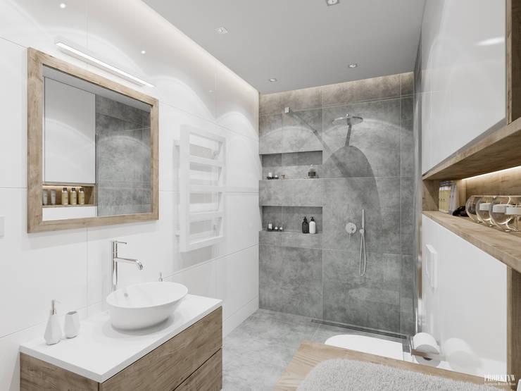 Bathroom by PRØJEKTYW | Architektura Wnętrz & Design