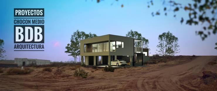 EXTERIOR CHOCON MEDIO:  de estilo  por BDB Arquitectura