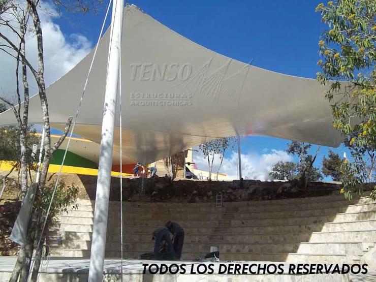 Velaria en Teatro Comitan, Chiapas:  de estilo  por TENSO DISEÑOS MX , Moderno