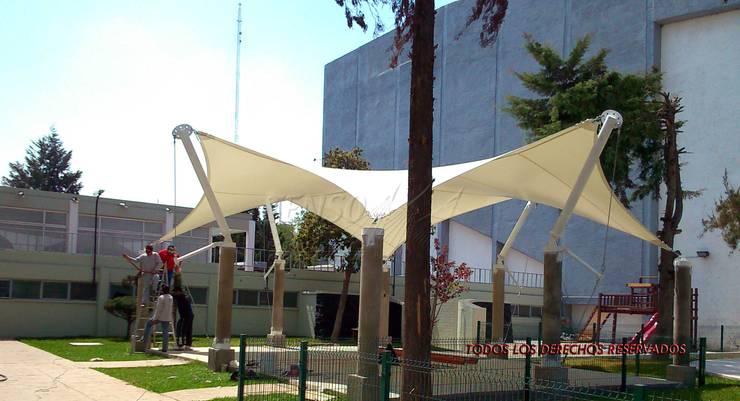 Velaria en Delegación Atzcapotzalco:  de estilo  por TENSO DISEÑOS MX , Moderno