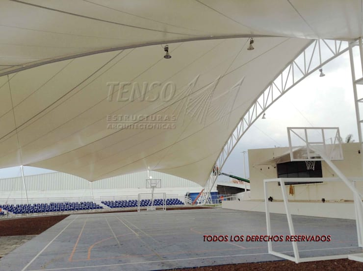 Canchas Deportivas en Puebla:  de estilo  por TENSO DISEÑOS MX , Moderno