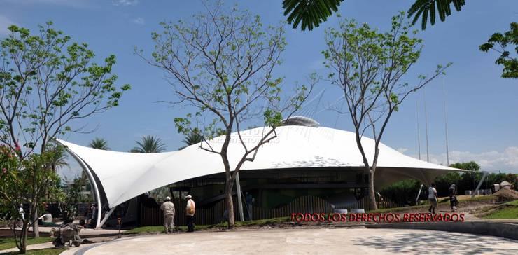 Area de ADN en Jardines de Mexico, Morelos: Espacios comerciales de estilo  por TENSO DISEÑOS MX , Moderno