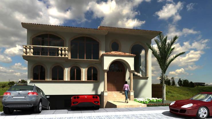 CASA MIRANDA : Casas de estilo  por SG Huerta Arquitecto Cancun , Clásico Piedra