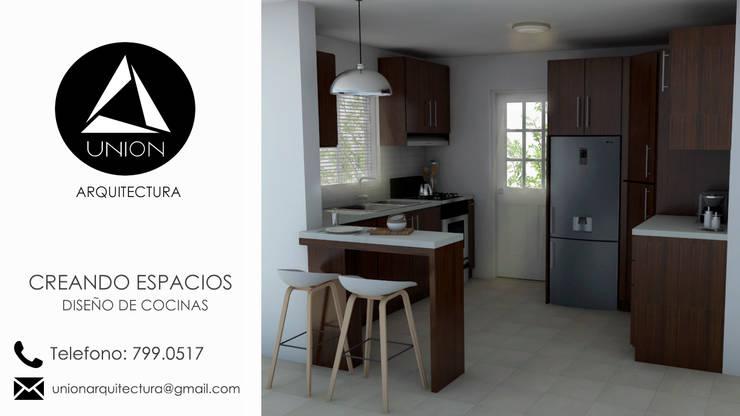 Diseño de Cocinas:  de estilo  por Union Arquitectura, Moderno Derivados de madera Transparente