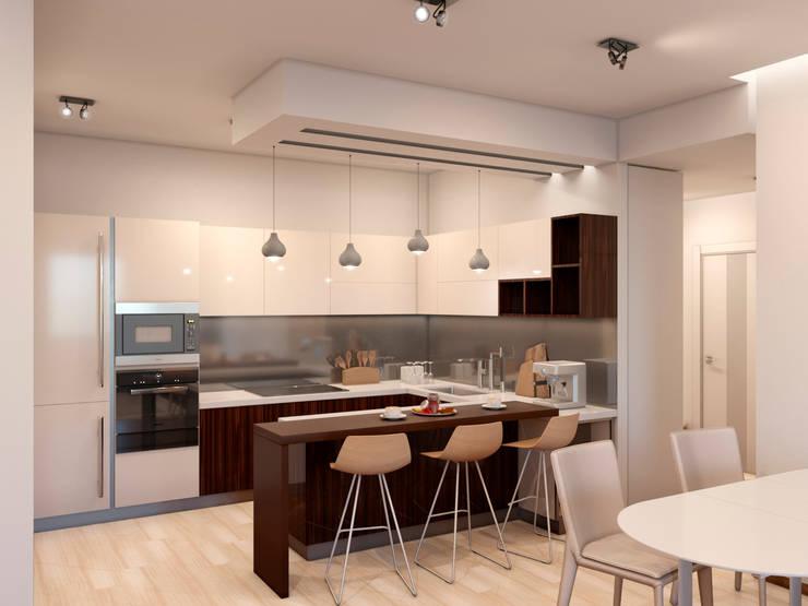 """ЖК """"Триколор"""": Кухни в . Автор – Happy Design"""