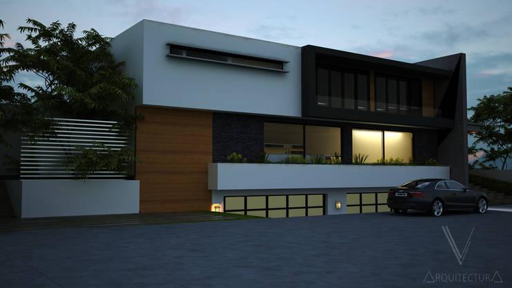 Fachada: Casas de estilo  por V Arquitectura, Moderno