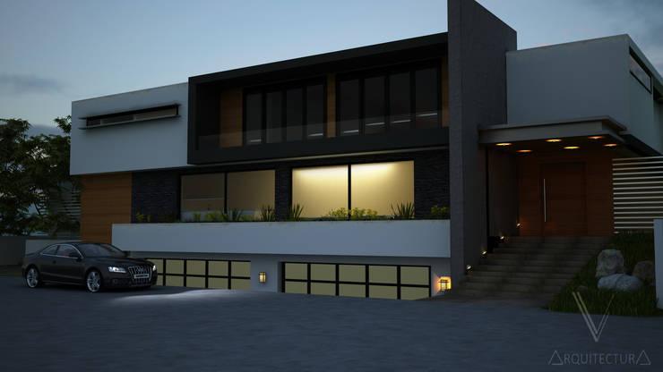 Fachada: Baños de estilo  por V Arquitectura, Moderno