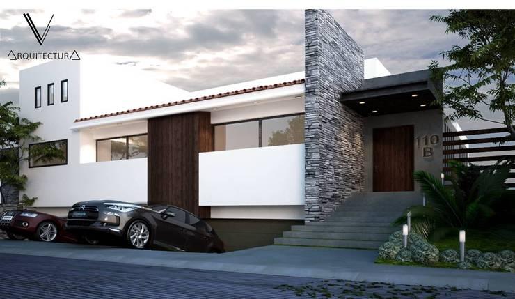 Fachada Principal: Casas de estilo  por V Arquitectura, Moderno