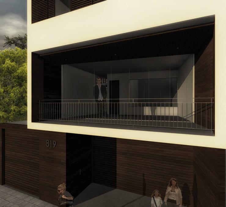 Casa Bernal: Casas de estilo  por POMAC Arquitectos