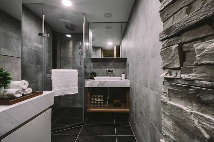 浴室:  浴室 by 澄穆空間設計
