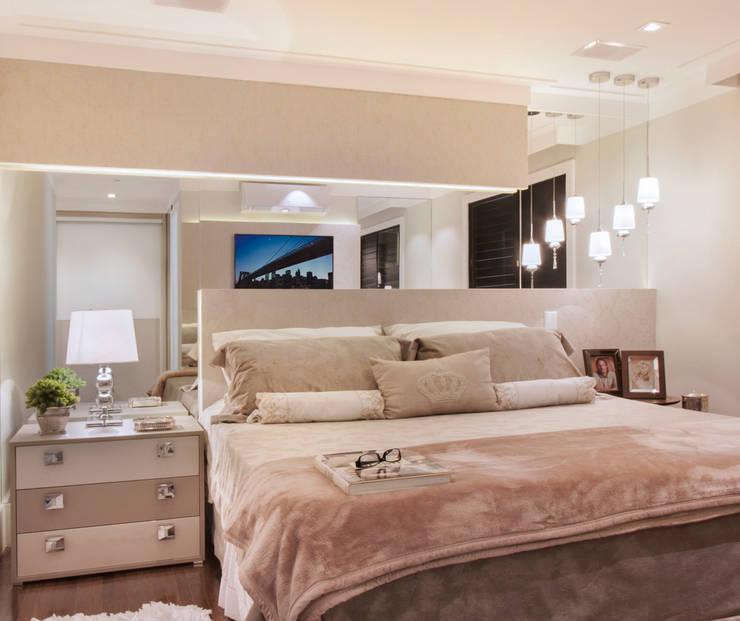 غرفة نوم تنفيذ Ana Lucia Salama - Arquitetura e Interiores