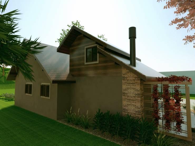 Casas rurales de estilo  de Cíntia Schirmer | Estúdio de Arquitetura e Urbanismo