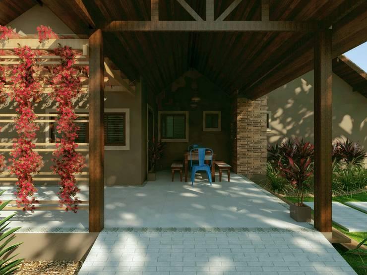 Rumah pedesaan by Cíntia Schirmer | Estúdio de Arquitetura e Urbanismo