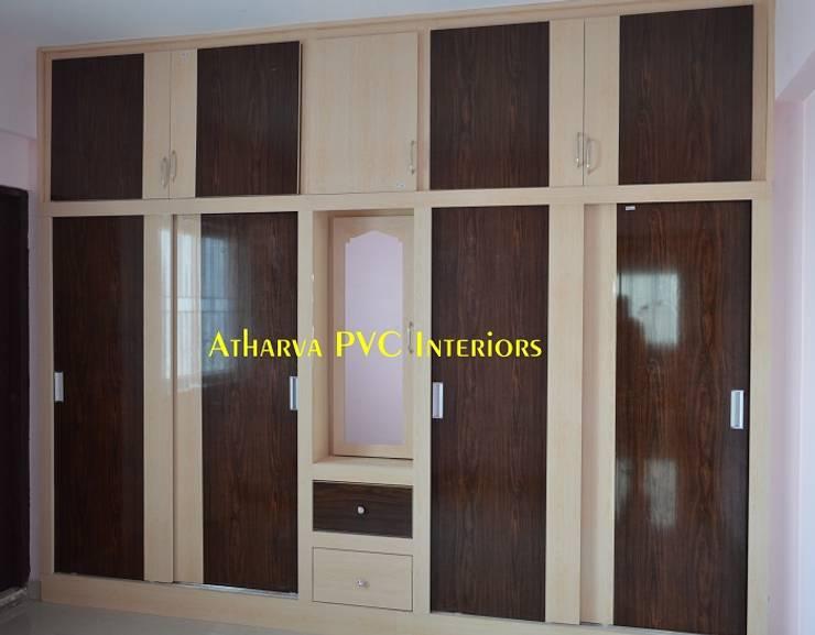 PVC Wardrobes: modern  by Atharva PVC Interiors,Modern Plastic