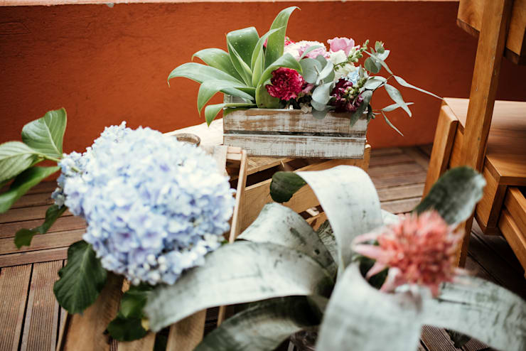 Jardines de estilo rural por Cena De.Coração