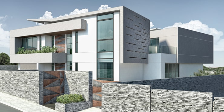 Casa 17: Casas de estilo  por Vivian Dembo Arquitectura
