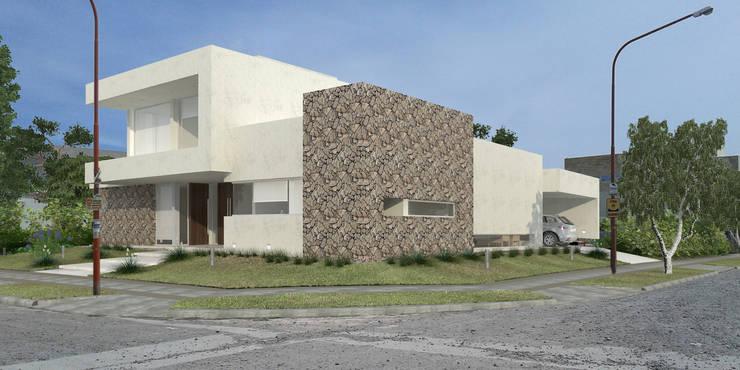 Vivienda LL – Manzanar Millenium, Cipolletti, Río Negro: Casas de estilo  por ARKIZA