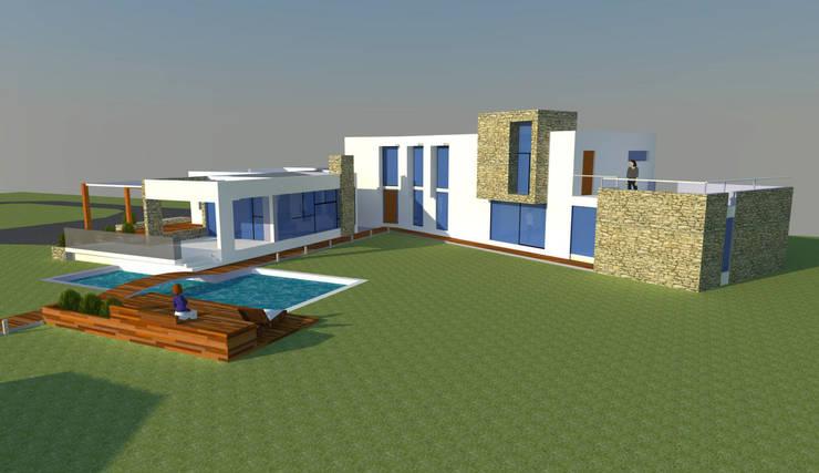 CASA EN BATUCO: Casas de estilo  por H2H arquitectos