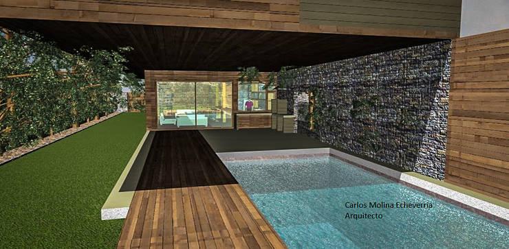 Casa Blanco. Constitución. Chile: Casas de estilo  por CM Arquitecto
