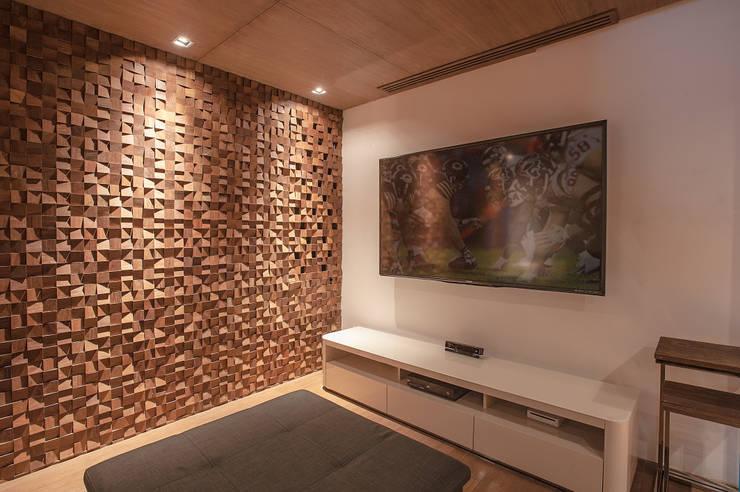 Salas de entretenimiento de estilo moderno por Art.chitecture, Taller de Arquitectura e Interiorismo 📍 Cancún, México.