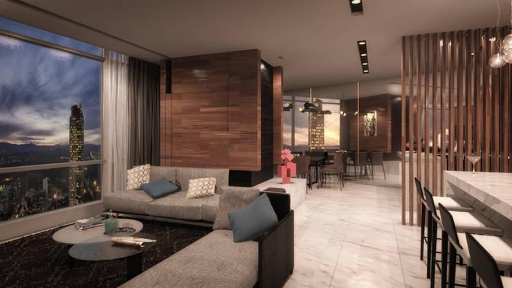 ST REGIS: Salas de estilo  por Art.chitecture, Taller de Arquitectura e Interiorismo 📍 Cancún, México., Moderno