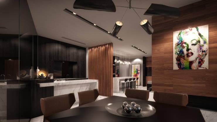 ST REGIS: Comedores de estilo  por Art.chitecture, Taller de Arquitectura e Interiorismo 📍 Cancún, México., Moderno