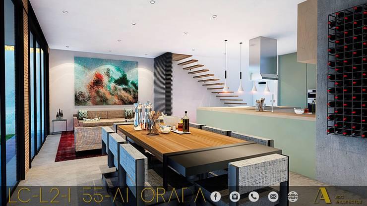 LG/L2/M55/AMORADA : Comedores de estilo  por ADC arquitectos , Industrial