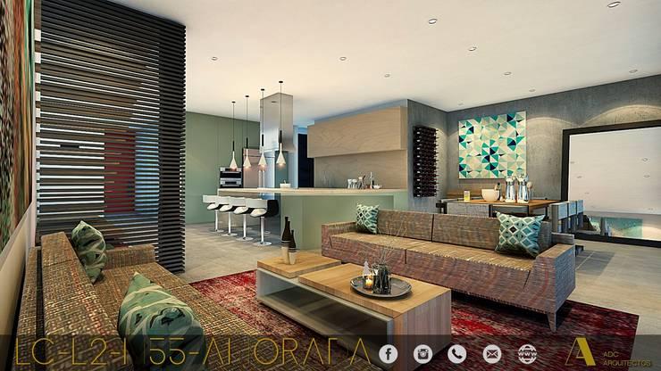 LG/L2/M55/AMORADA : Salas de estilo  por ADC arquitectos , Industrial