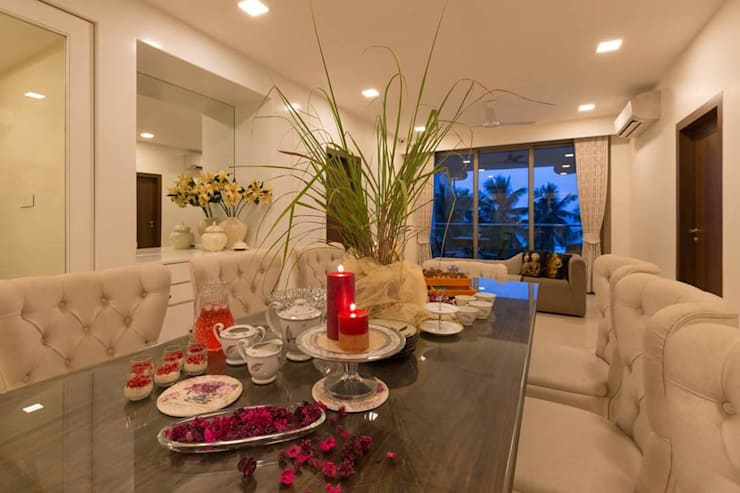 Proposed Interior of Bunglaow: asian Dining room by KANAKIA INTERIOR AND CONSULTANCY