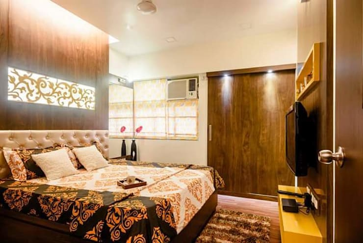 Proposed Interior Of 3BHK Flat:  Bedroom by KANAKIA INTERIOR AND CONSULTANCY