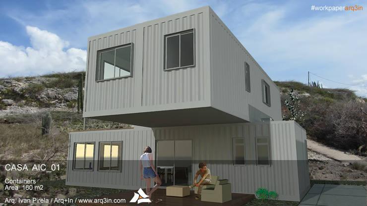 Casa AIC_01: Casas de estilo  por Arq+In Arquitectura Integral